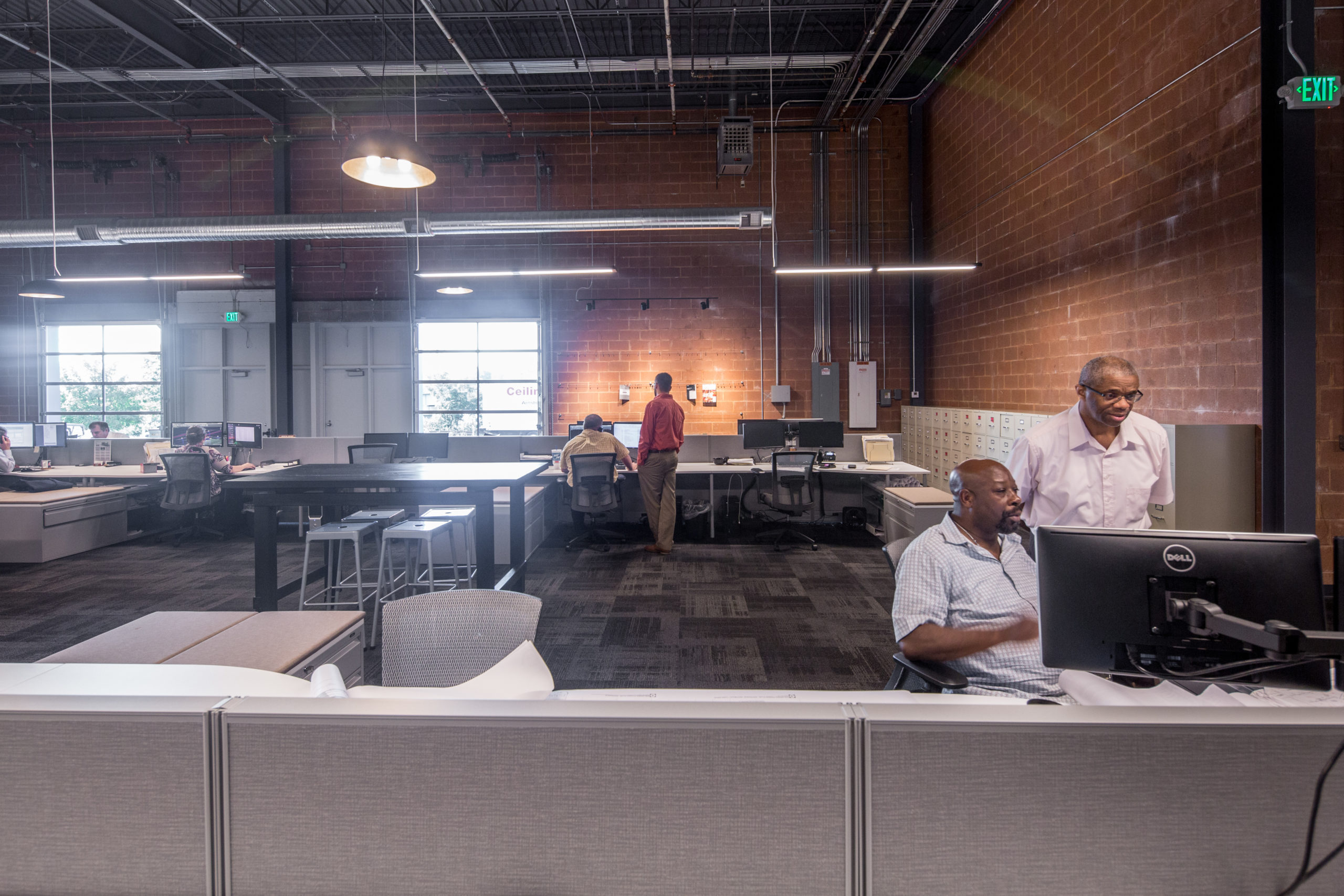 CASCO Open Office Workspace with Working Employees